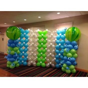 Σετ κολώνες μπαλονιών και τοίχος 2.50μ εγκαινίων ή για κάθε περίσταση
