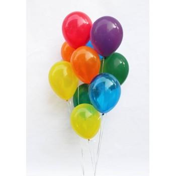 Πολύχρωμα μπαλόνια για Γενέθλια με Ήλιον