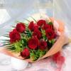 Ανθoδέσμη 10 τριαντάφυλλα με σολιντάγκο +30,00€