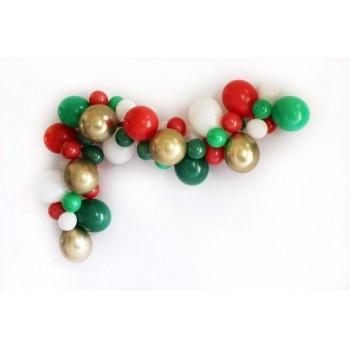 Γιρλάντα μπαλονιών πράσινο - κόκκινο για διακόσμηση χώρου