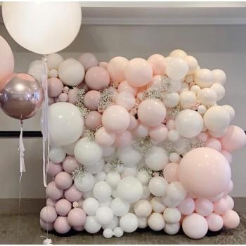 Οργανικός Τοίχος Baby Shower pall rose